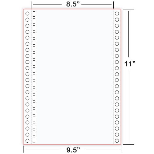 8X11-19-hole continuous Braille paper
