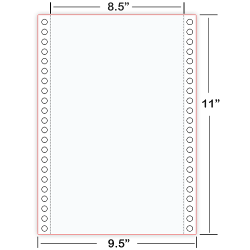 8X11-plain continuous Braille Paper