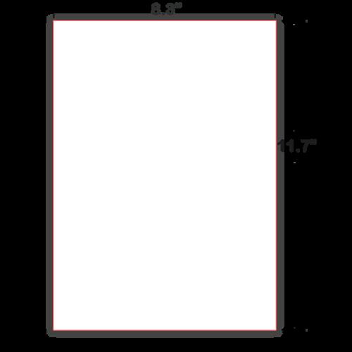 A4 Cut Sheet Braille Paper